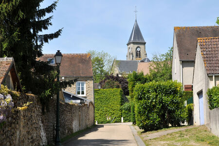 Ile de France, the picturesque village of Fremainville in Val d Oise Stock Photo - 28281348