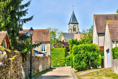 Ile de France, the picturesque village of Fremainville in Val d Oise Stock Photo - 28281351