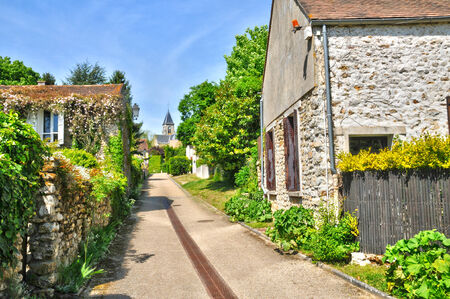 Ile de France, the picturesque village of Fremainville in Val d Oise Stock Photo - 28281349