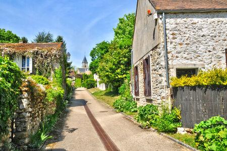 Ile de France, the picturesque village of Fremainville in Val d Oise Stock Photo - 28281349