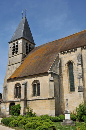 Val d Oise, the Saint Gildard church of Longuesse Stock Photo - 28281350