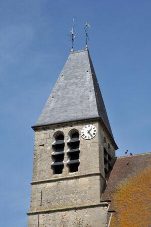 Val d Oise, the Saint Gildard church of Longuesse Stock Photo - 28281352