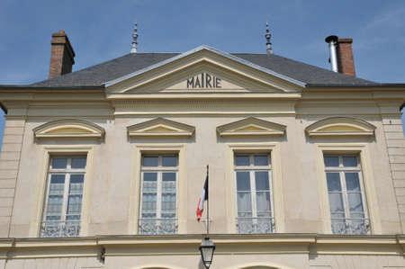 Ile de France, the city hall of Themericourt in Val d Oise Stock Photo - 28281382