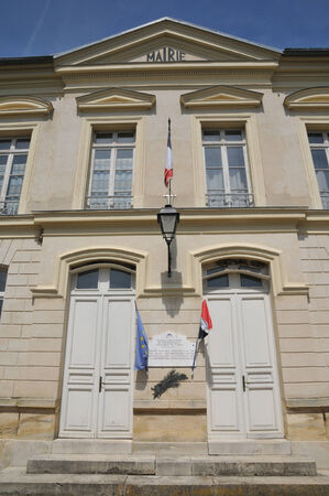 Ile de France, the city hall of Themericourt in Val d Oise Stock Photo - 28281384