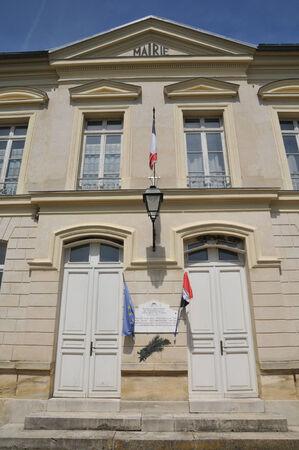 Ile de France, the city hall of Themericourt in Val d Oise Stock Photo - 28281384