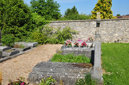 Ile de France, the cemetery of Cherence in Val d'Oise Stock Photo - 28373922