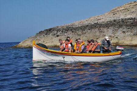 Republic of Malta, the picturesque site of Blue Grotto in Wied Iz Zurrieq
