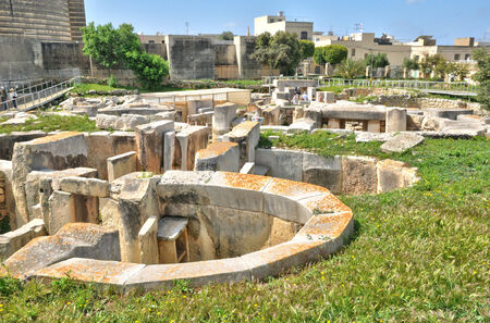 Republic of Malta, the megalithic temples of Tarxien