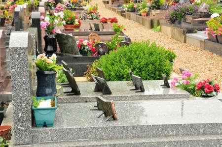 vaux: Ile de France, the cemetery of  Vaux sur Seine Stock Photo