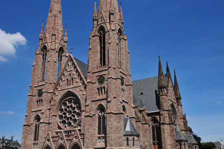 bas: France, the Saint Paul church in  Strasbourg in Bas Rhin