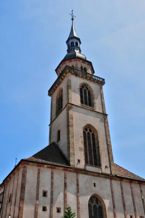 andlau: France, the picturesque church of  Andlau in Alsace