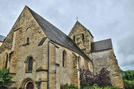 vaux: Ile de France, the picturesque church of  Vaux sur Seine