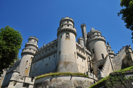 feudal: France, the picturesque castle of Pierrefonds in Oise
