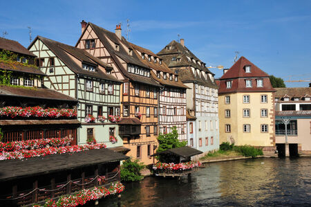 France, the picturesque Petite France district in the city of Strasbourg in Alsace 版權商用圖片
