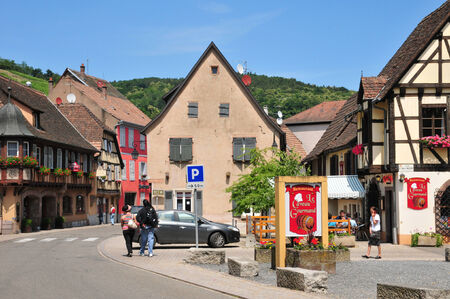 andlau: France, the picturesque village of  Andlau in Alsace Editorial