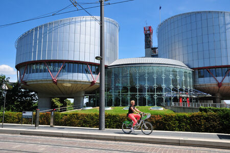 bas: France, the human rights palace of Strasbourg in Bas Rhin  Editorial