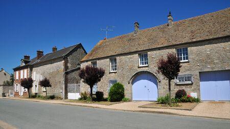 ile de france: Ile de France, the picturesque village of  Le Bellay en Vexin Editorial