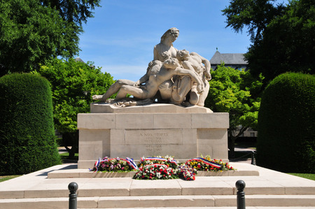 bas: France, the war memorial of Strasbourg in Bas Rhin  Editorial