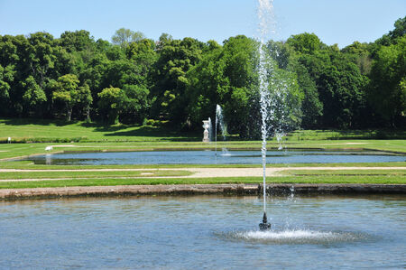 chantilly: France, the picturesque castle of Chantilly park in Oise