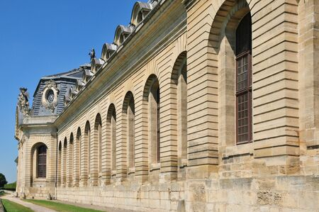 chantilly: France, the picturesque castle of Chantilly stable in Oise