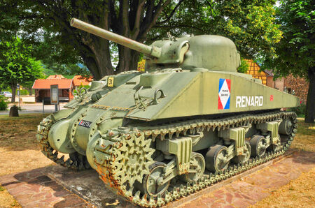 liberation: France,an American tank of the Liberation of kientzheim in Alsace Editorial