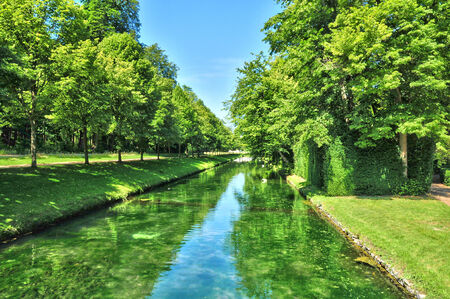 chantilly: France, the picturesque of Chantilly park in Oise Stock Photo