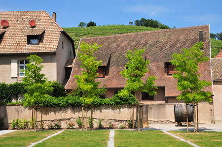 andlau: France, the picturesque village of  Andlau in Alsace Stock Photo