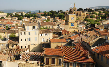 rhone: France, city of Salon de Provence in Bouche du Rhone Stock Photo