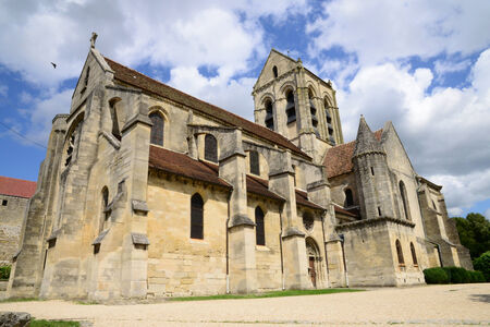 van gogh: Ile de France, the picturesque church of Auvers sur Oise painted by Vincent Van Gogh