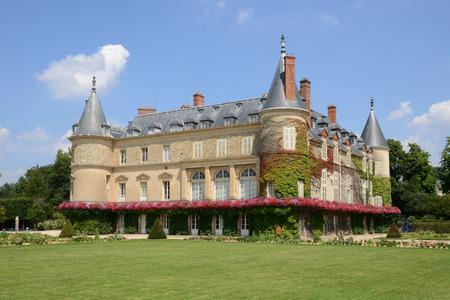 Ile de France, the castle of Rambouillet in Les Yvelines Editorial