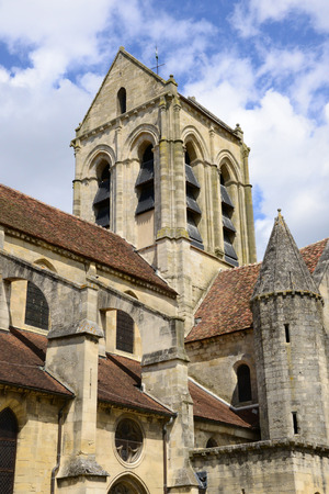 van gogh: Ile de France, the picturesque church of Auvers sur Oise painted by Vincent Van Gogh