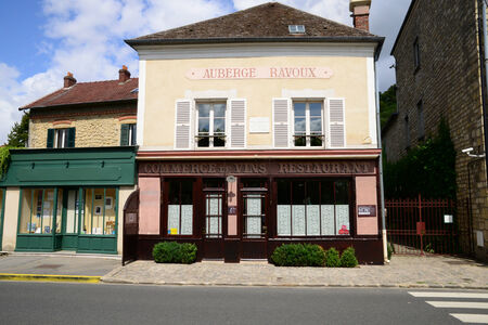 Ile de France, de auberge Ravoux in Auvers sur Oise, waar Vincent van Gogh stierf
