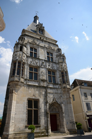et: Eure et Loir, the picturesquebelfry of Dreux  Editorial