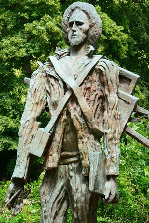 van gogh: Ile de France, the Vincent Van Gogh  statue by Zadkine of Auvers sur Oise