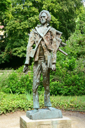 van gogh: Ile de France, the Vincent Van Gogh  statue by Zadkine of Auvers sur Oise