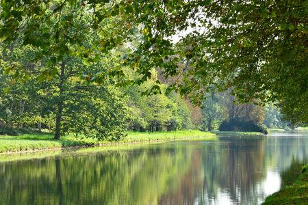 Ile de France, the picturesque Rambouillet castle garden