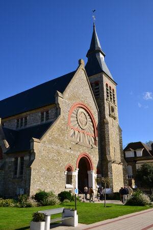 calais: France, the picturesque church of Le Touquet Paris Plage