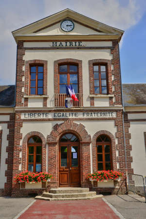 marché: France, the picturesque city hall of Neuf Marche