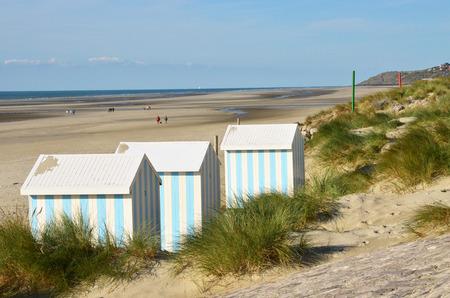 Nord Pas de Calais, the picturesque city of Hardelot Plage Imagens