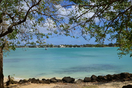 Africa, the picturesque city of Grand Bay in Mauritius Republic