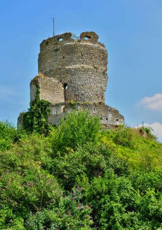 France, the picturesque castle of Chateau sur epte Stock Photo
