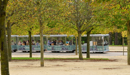 parc: France, the touristy train in the parc of Versailles Palace