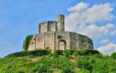 France, the historical castle of Gisors in Normandie Editorial