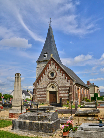 bois: France, the picturesque church of Bois Guilbert Stock Photo