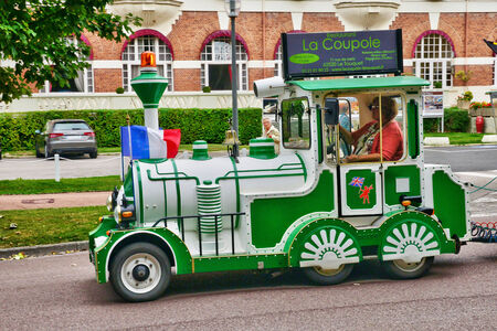 touristy: France, the picturesque touristy train in the city of Le Touquet