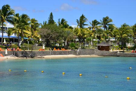 aux: Africa, the picturesque area of  La Pointe aux Canonniers in Mauritius Republic Stock Photo