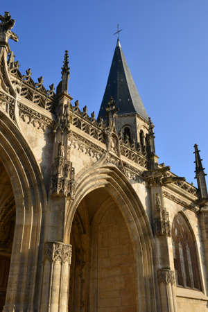 collegiate: Ile de France, the collegiate church of Poissy Stock Photo
