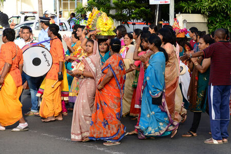 great bay: Africa, Ganesha celebration in great bay in Mauritius Island Editorial