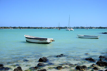 great bay: Africa, the great bay coast in Mauritius Island Stock Photo