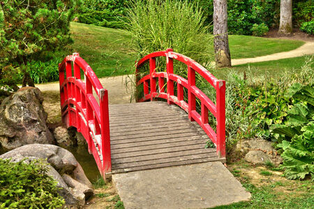 ile de france: Ile de France, the picturesque japanese garden of  Aincourt